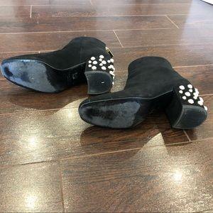 Stuart Weitzman Shoes - Stuart Weitzman Pearlbacari Black Suede Booties